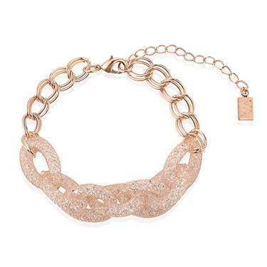 August Woods Rose Gold CZ Chain Bracelet