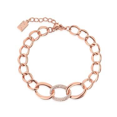 August Woods Rose Gold CZ Link Bracelet