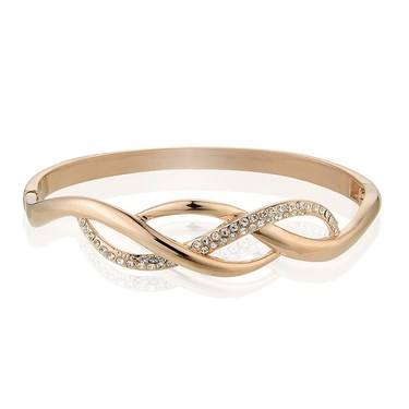 August Woods Rose Gold Plaited Bangle  - Click to view larger image