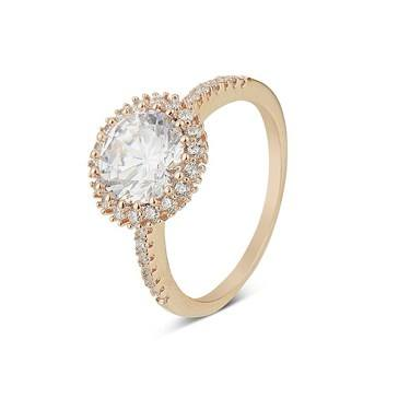 August Woods Rose Gold CZ Ring  - Click to view larger image