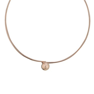August Woods Rose Gold Sphere Choker Necklace  - Click to view larger image