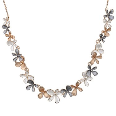 August Woods Rose Gold Trio Flower Necklace