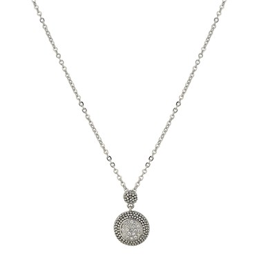 August Woods Society Small Pave Pendant Necklace