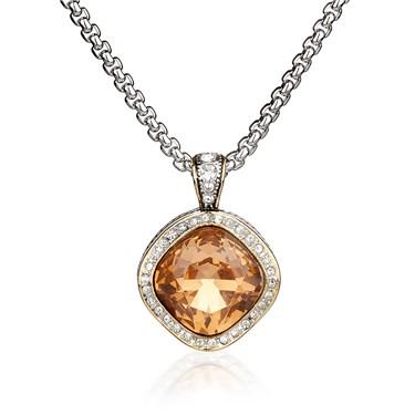 August Woods Society Square Topaz Necklace  - Click to view larger image