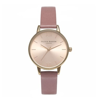 Olivia Burton Midi Dial Rose and Rose Gold Watch  - Click to view larger image