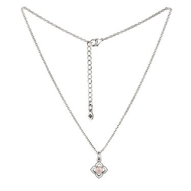 Karma Silver Pink Opal June Necklace