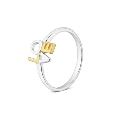 Argento Bicolour Love Ring