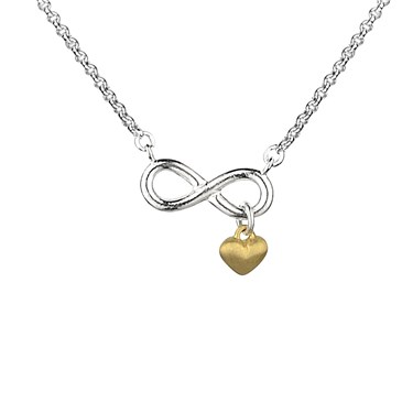 Argento Infinity Necklace With Gold Heart