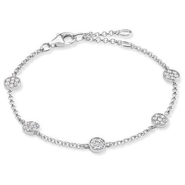 Thomas Sabo Glam & Soul Silver Sparkle Bracelet  - Click to view larger image