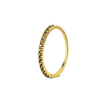 Argento Outlet Gold Green Pave Band Ring