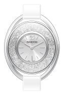Swarovski Crystalline Oval White & Steel Watch  - Click to view larger image