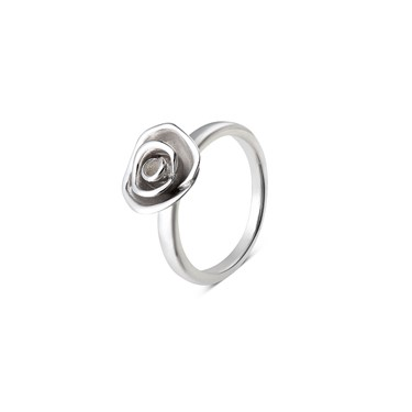 Argento Large Delicate Rose Ring