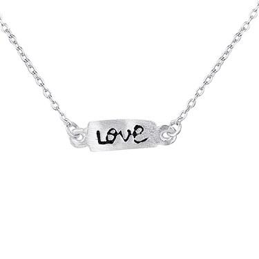 Argento Love Bar  Necklace