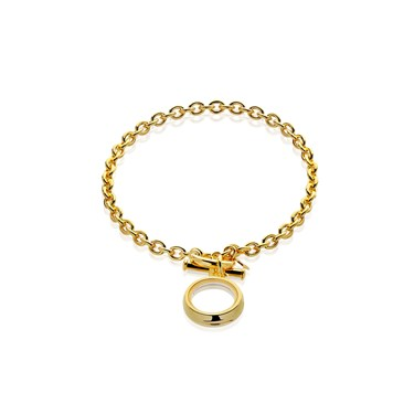 Storie Gold T-bar Bracelet Carrier  - Click to view larger image