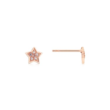 Storie Rose Gold CZ Star Studs  - Click to view larger image