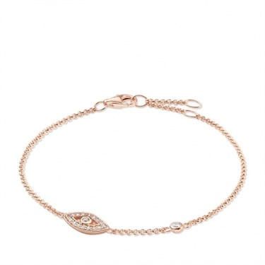Thomas Sabo Rose Gold Nazar's Eye Bracelet  - Click to view larger image