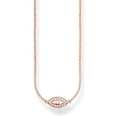 Thomas Sabo Rose Gold Nazar's Eye Necklace