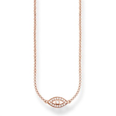 Thomas Sabo Rose Gold Nazar's Eye Necklace  - Click to view larger image