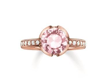 Thomas Sabo Rose Gold & Pink Ring