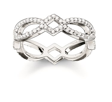 Thomas Sabo Silver Glam & Soul Infinity Ring  - Click to view larger image