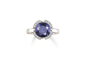 Thomas Sabo Silver Glam Blue Ring