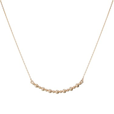 Dirty Ruby Rose Gold Bubble Necklace