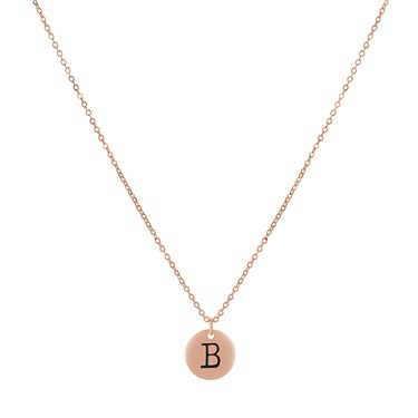 Dirty Ruby Rose Gold Letter B Necklace