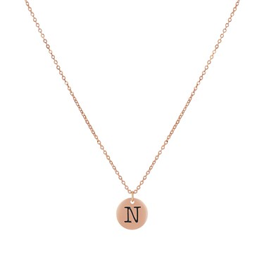 Dirty Ruby Rose Gold Letter N Necklace