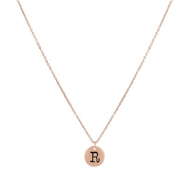 Dirty Ruby Rose Gold Letter R Necklace