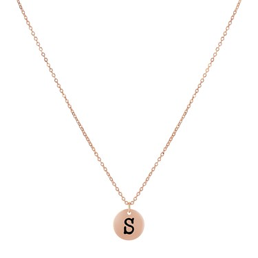 Dirty Ruby Rose Gold Letter S Necklace