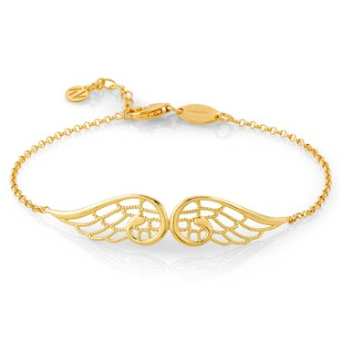 Nomination Angel Gold Double Wing Bracelet