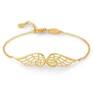 Nomination Angel Gold Double Wing Bracelet
