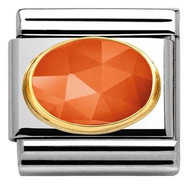 Nomination Faceted Bright Orange Jade Charm