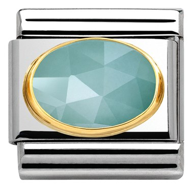 Nomination Faceted Light Blue Jade Stone Charm
