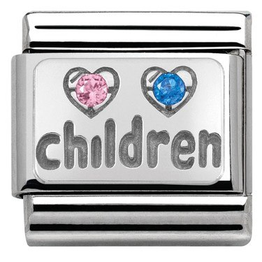 Nomination Children Hearts Charm  - Click to view larger image