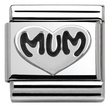 Nomination Silver Mum Charm  - Click to view larger image