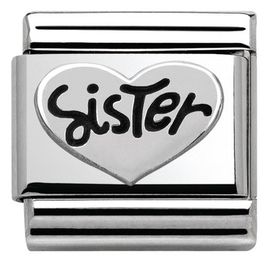 Nomination Silver Sister Charm  - Click to view larger image