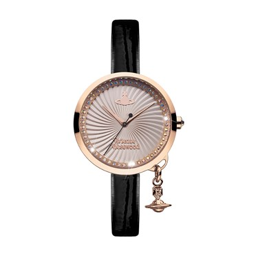 Vivienne Westwood Black & Rose Gold Bow Watch  - Click to view larger image