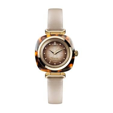 Vivienne Westwood Brown & Gold Beckton Watch  - Click to view larger image