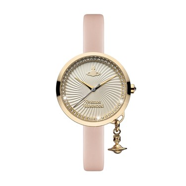 Vivienne Westwood Pink & Gold Bow Watch  - Click to view larger image