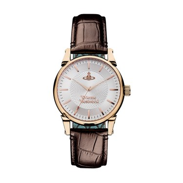 Vivienne Westwood Brown & Rose Gold The Finsbury Watch  - Click to view larger image