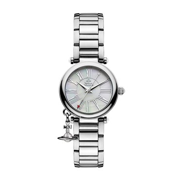 Vivienne Westwood Silver Mother of Pearl Orb Watch  - Click to view larger image