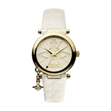Vivienne Westwood White & Gold Orb Watch   - Click to view larger image
