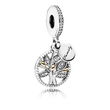 Pandora Family Heritage Pendant Charm  - Click to view larger image