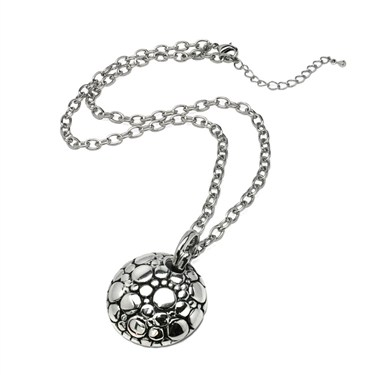 Karma Silver Dotted Pendant Necklace