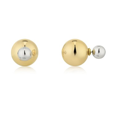 August Woods Front & Back Earrings Gold