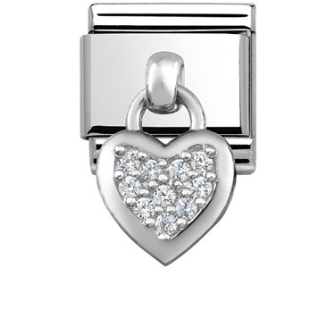 Nomination Silver Hanging Heart Charm  - Click to view larger image