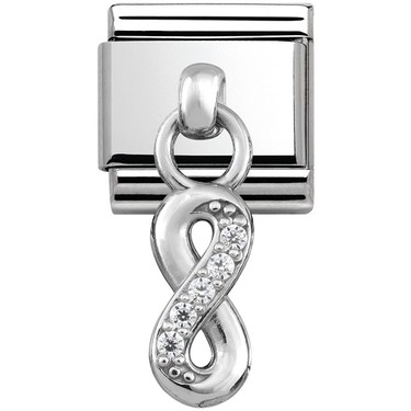 Nomination Silver Hanging Infinity Charm  - Click to view larger image
