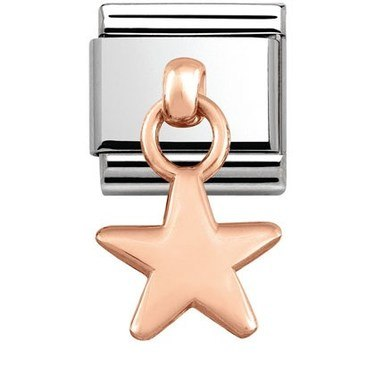 Nomination Rose Gold Hanging Star Charm  - Click to view larger image