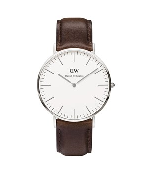 Daniel Wellington Bristol 40mm Silver Watch  - Click to view larger image